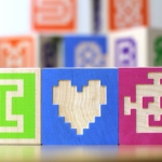 Alphabet Blocks with a Retro Twist!