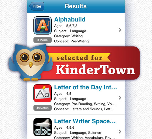 Alphabuild is Selected for KinderTown!
