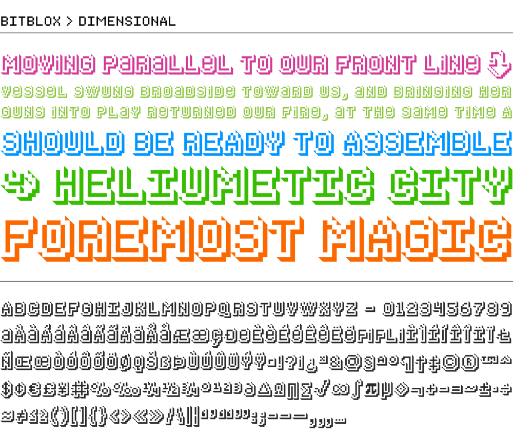Bitblox Dimensional: Digital Typeface