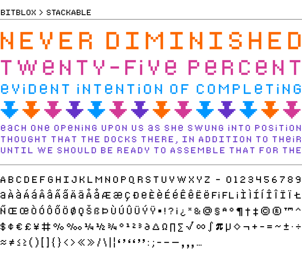 Bitblox Stackable: Digital Typeface