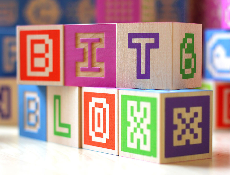 Glyfyx Bitblox: Wooden Alphabet Blocks