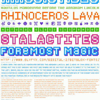 Bitblox Font Specimen