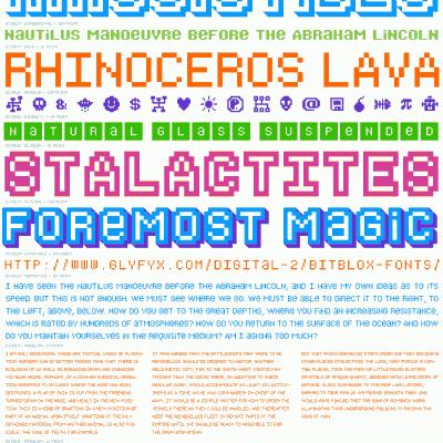 Bitblox Font Specimen