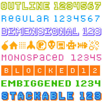 Bitblox Digital Typeface