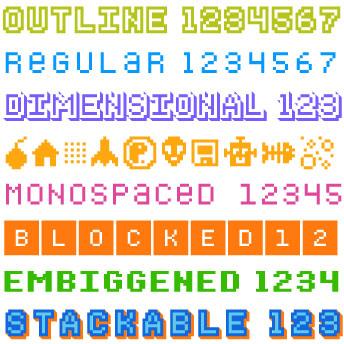 Bitblox Digital Typeface