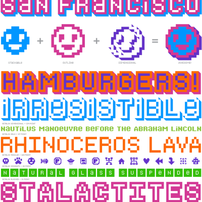 Bitblox: Digital Typeface