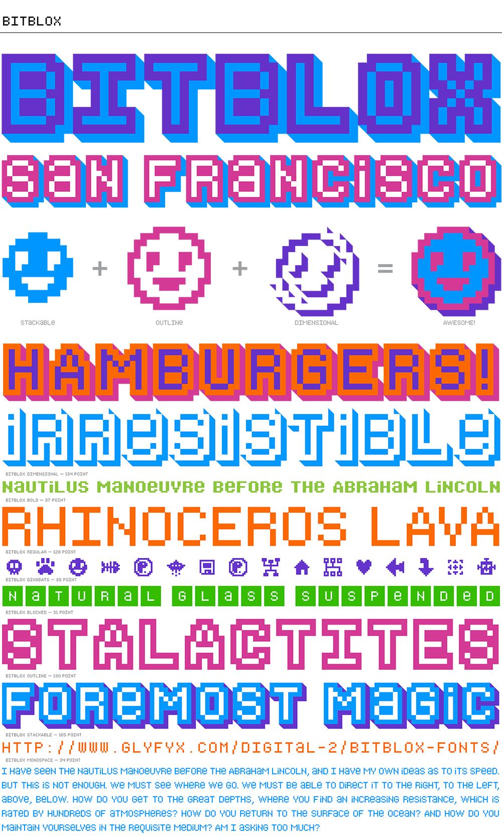 Bitblox: Digital Typeface