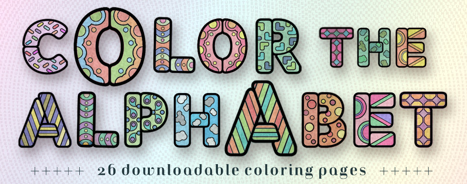 Color The Alphabet Glyfyx
