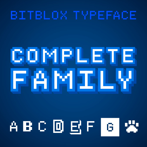Bitblox: Complete Family: 8 Fonts