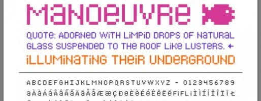 Bitblox Typeface Specimen Preview