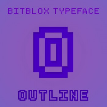 Bitblox Outline: Font