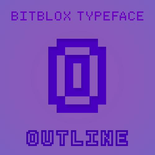 Bitblox Outline: Font