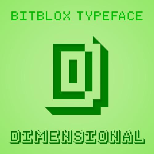 Bitblox Dimensional: Font