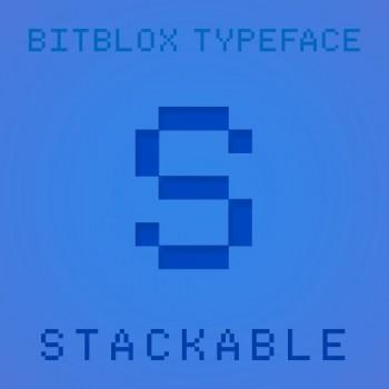 Bitblox Stackable: Font