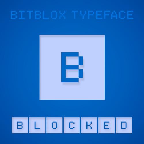 Bitblox Blocked: Font