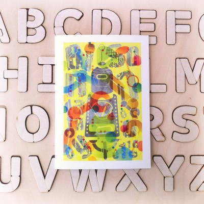 New Greeting cards! Fine analog alphabetic objects.